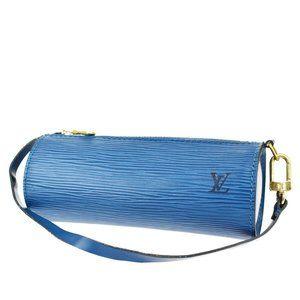 Authentic LOUIS VUITTON Soufflot Pouch Hand Bag Ep